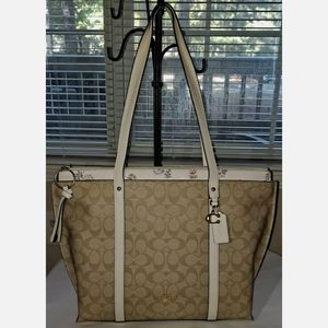 Coach May Signature Leather Canvas Tote 2320